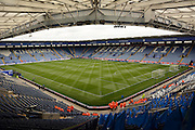 Ground during the Barclays Premier League match between Leicester City and Swansea City at the King Power Stadium, Leicester, England on 24 April 2016. Photo by Alan Franklin.