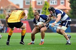 Max Crumpton of Bristol Rugby in possession - Photo mandatory by-line: Patrick Khachfe/JMP - Mobile: 07966 386802 21/09/2014 - SPORT - RUGBY UNION - Bristol - Ashton Gate - Bristol Rugby v Cornish Pirates - GK IPA Championship.