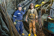 Father and son team, Paul and Rusty Gibson, are underground miners at Pogo Mine outside of Delta Junction