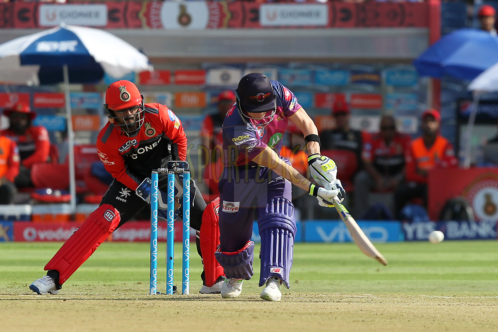 Steve Smith captain of Rising Pune Supergiants during match 34 of the Vivo 2017 Indian Premier League between the Rising Pune Supergiants and the Royal Challengers Bangalore   held at the MCA Pune International Cricket Stadium in Pune, India on the 29th April 2017Photo by Prashant Bhoot - Sportzpics - IPL