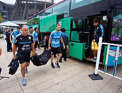 NANNING, CHINA - Sunday, March 25, 2018: Uruguay's Maxi Gómez arrives for a training session at the Guangxi Sports Centre ahead of the 2018 Gree China Cup International Football Championship final match against Uruguay. (Pic by David Rawcliffe/Propaganda)