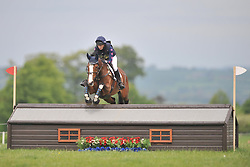 GINA RUCK ON CAREFUL NUMO, CROSS COUNTRY SECTION, Rockingham International Horse Trials, Rockingham Castle  Saturday  21st May 2016<br /> Photo:Mike Capps