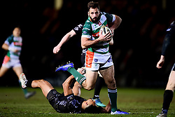 Guinness PRO14, Rodney Parade, Newport, UK 06/03/2020<br /> Dragons vs Benetton Rugby<br /> Angelo Esposito of Benetton Rugby is challenged by Ashton Hewitt of Dragons <br /> Mandatory Credit ©INPHO/Ryan Hiscott