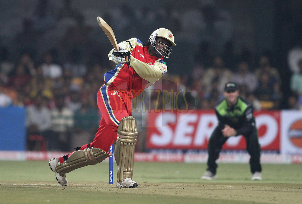 during match 1 of the NOKIA Champions League T20 ( CLT20 )between the Royal Challengers Bangalore and the Warriors held at the  M.Chinnaswamy Stadium in Bangalore , Karnataka, India on the 23rd September 2011..Photo by Shaun Roy/BCCI/SPORTZPICS