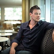 Actor, Cory Monteith from the hit television series Glee, in The Market restaurant at the Shangrila hotel in Vancouver.