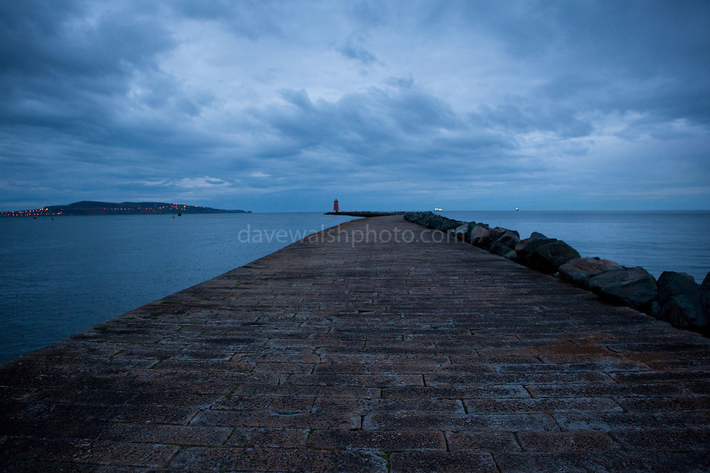 The South Bull Wall, Dublin - one of the longest sea walls in Europe.