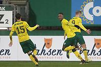 *Djibril Dianessy* of Fortuna Sittard celebrates 1-1