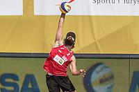 BILDET INNGÅR IKKE I FASTAVTALER. ALL NEDLASTING BLIR FAKTURERT.<br /> <br /> Sandvolleyball<br /> Foto: imago/Digitalsport<br /> NORWAY ONLY<br /> <br /> FIVB Beach volleyball Beachvolleyball World Tour 2016 - Olsztyn Grand Slam; 16.06.2016 Bjarte Usken (NOR); FIVB Beach Volleyball World Tour 2016 - Olsztyn Grand Slam am 16.06.2016, Olsztyn, Polen