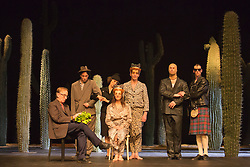 © Licensed to London News Pictures. 22/04/2015. London, England. Tanztheater Wuppertal Pina Bausch perform the UK Premiere of Ahnen at Sadler's Wells Theatre. Performances from 23 to 26 April 2015. Photo credit: Bettina Strenske/LNP - STRICTLY EDITORIAL USE ONLY