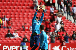 February 23, 2019 - Seville, Madrid, Spain - Ter Stegen (FC Barcelona) seen warming up before the La Liga match between Sevilla FC and Futbol Club Barcelona at Estadio Sanchez Pizjuan in Seville, Spain. (Credit Image: © Manu Reino/SOPA Images via ZUMA Wire)