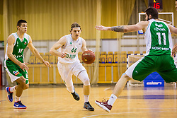 Luka Voncina of KD Ilirija during basketball match between KK Ilirija and KK Krka in Round #5 of Liga Nova KBM 2017/18, on November 4, 2017 in Hala Tivoli, Ljubljana, Slovenia. Photo by Ziga Zupan / Sportida