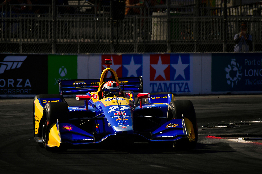 Alexander Rossi, Andretti Autosport Honda<br /> Saturday 14 April 2018<br /> Toyota Grand Prix of Long Beach<br /> Verizon IndyCar Series<br /> Streets of Long Beach, California USA<br /> World Copyright: Scott R LePage<br /> LAT Images