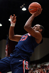 February 3, 2011; Stanford, CA, USA;  Arizona Wildcats forward Derrick Williams (23) shoots a one handed jump shot against the Stanford Cardinal during the first half at Maples Pavilion.
