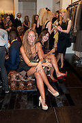 CANDIDA LODOVICA DE ANGELS CORVI; VALERIA DE ANGELS CORVI, Party to celebrate the launch of the new Cavalli Store. Roberto Cavalli. Sloane st. London. 17 September 2011. <br /> <br />  , -DO NOT ARCHIVE-© Copyright Photograph by Dafydd Jones. 248 Clapham Rd. London SW9 0PZ. Tel 0207 820 0771. www.dafjones.com.
