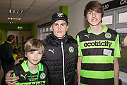 Players sponsorship Forest Green Rovers Charlie Cooper(15) during the EFL Sky Bet League 2 match between Forest Green Rovers and Crawley Town at the New Lawn, Forest Green, United Kingdom on 24 February 2018. Picture by Shane Healey.