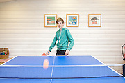 The games room at Pickwell Manor, Georgeham, North Devon, UK. Zac Baker (11).<br /> CREDIT: Vanessa Berberian for The Wall Street Journal<br /> HOUSESHARE