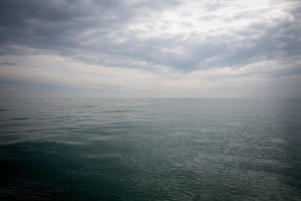 The English Channel looking towards Calais, France, on a cloudy day form Folkestone, Kent, England, United Kingdom. (photo by Andrew Aitchison / In pictures via Getty Images)