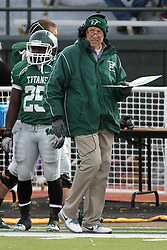 15 November 2014:  Anfernee Roberts and Norm Eash during an NCAA division 3 football game between the North Park Vikingsand the Illinois Wesleyan Titans in Tucci Stadium on Wilder Field, Bloomington IL