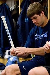 05 April 2008: North Carolina Tar Heels midfielder Ben Hunt (18) before playing the Virginia Cavaliers in Chapel Hill, NC.