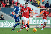 Bristol City striker Lee Tomlin during the Sky Bet Championship match between Bristol City and Birmingham City at Ashton Gate, Bristol, England on 30 January 2016. Photo by Alan Franklin.