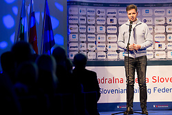 Dejan Crknek, deputy mayor of Ljubljana at ceremony of Slovenia Sailing Federation for best Sailor in 2017, on February 7, 2018 in Ljubljana castle, Ljubljana, Slovenia. Photo by Urban Urbanc / Sportida