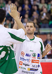 Dusan Djordjevic (10) of Olimpija at Euroleague basketball match of Group C between KK Union Olimpija, Ljubljana and Maroussi B.C., Athens, on October 29, 2009, in Arena Tivoli, Ljubljana, Slovenia. Olimpija lost 75:81.  (Photo by Vid Ponikvar / Sportida)