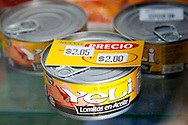Canned tuna in Cueto, Holguin Province, Cuba.