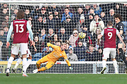 Burnley forward Chris Wood scores for Burnley during the Premier League match between Burnley and Leicester City at Turf Moor, Burnley, England on 19 January 2020.