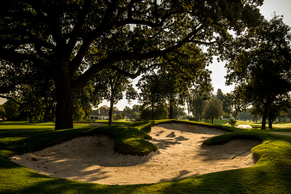 9/25/17 9:13:03 AM -- Bunkers and greens on Cedar Ridge Country Club for Jonesplan. <br /> <br /> Photo by Shane Bevel