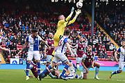 Aston Villa Goalkeeper,  Sam Johnstone (34)  during the EFL Sky Bet Championship match between Blackburn Rovers and Aston Villa at Ewood Park, Blackburn, England on 29 April 2017. Photo by Mark Pollitt.