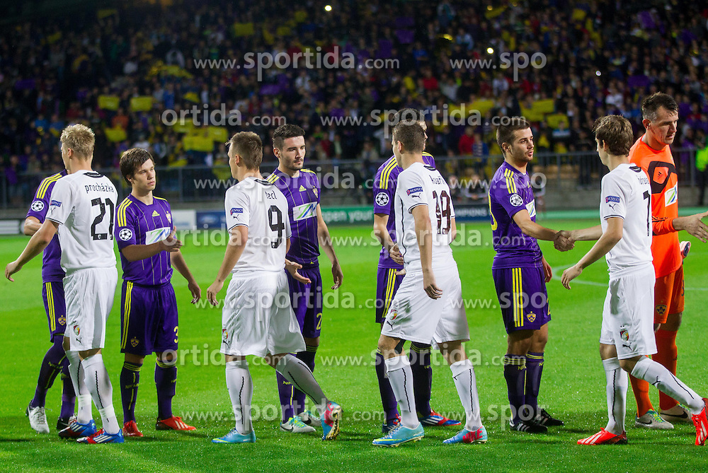 Players during Second Leg football match between NK Maribor (SLO) and FC Viktoria Plzen (CZE) of UEFA Champions League 2013/14 Play-Offs on August 28, 2013 in Stadium Ljudski vrt, Maribor, Slovenia. FC Viktoria Plzen defeated NK Maribor 1-0 and Qualify for Champions League 2013/14. (Photo by Vid Ponikvar / Sportida.com)