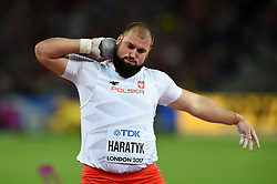 Michał Haratyk of Poland in action - Mandatory byline: Patrick Khachfe/JMP - 07966 386802 - 06/08/2017 - ATHLETICS - London Stadium - London, England - Men's Shot Put Final - IAAF World Championships