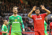 Sunderland midfielder Jan Kirchhoff  and Liverpool midfielder Emre Can  during the Barclays Premier League match between Liverpool and Sunderland at Anfield, Liverpool, England on 6 February 2016. Photo by Simon Davies.