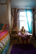 Rya Hickey (daughter of Margaret B. Jones) in her bedroom in her mother's home in Eugene, Oregon