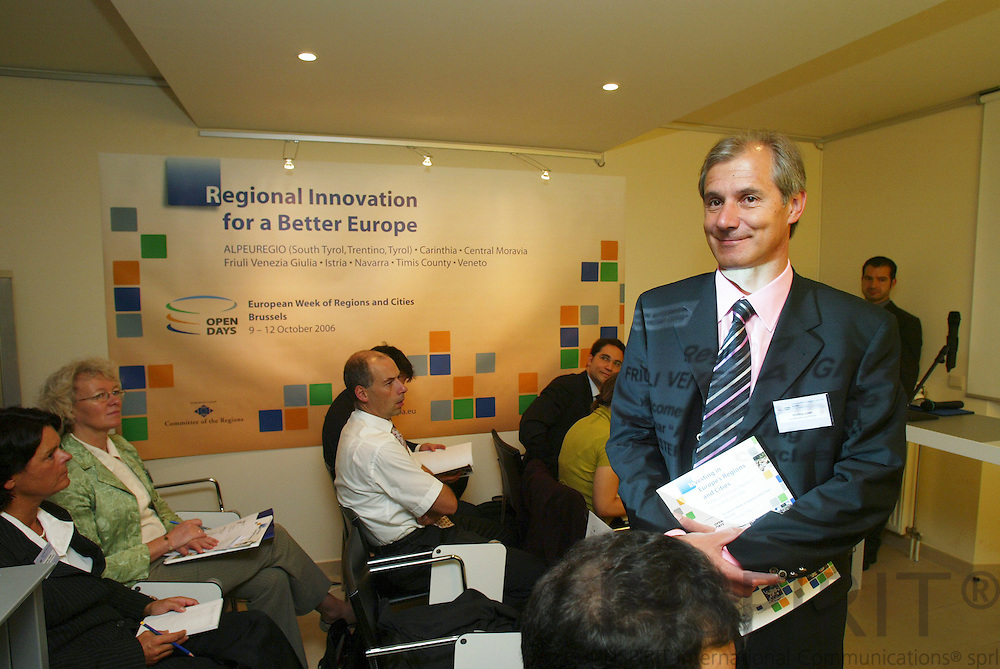 BRUSSELS - BELGIUM - 11 OCTOBER 2006 -- Minister Josef MARTINZ, Austrian Region of Carinthia, at the seminar in connection with Committee of Regions Open Days. -- PHOTO: ERIK LUNTANG /