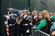 St. Patrick's Day Parade, New York, NY on Tuesday, March 17, 2015.<br /> <br /> Photograph by Andrew Hinderaker