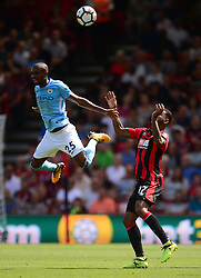 Fernandinho of Manchester City flicks the ball over his head. - Mandatory by-line: Alex James/JMP - 26/08/2017 - FOOTBALL - Vitality Stadium - Bournemouth, England - Bournemouth v Manchester City - Premier League