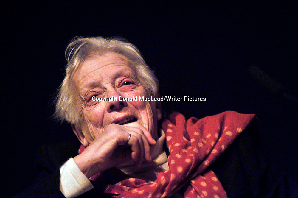 Glasgow Aye Write! Festival - Baroness Mary Warnock (photographed in the Moir Hall of the Mitchell Theatre) who discussed her book Dishonest to God and her belief that religious and theological issues have no place in public morality