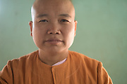 Nun at Padonmar Sari Nunnery study and pray, Taunggyi, Myanmar
