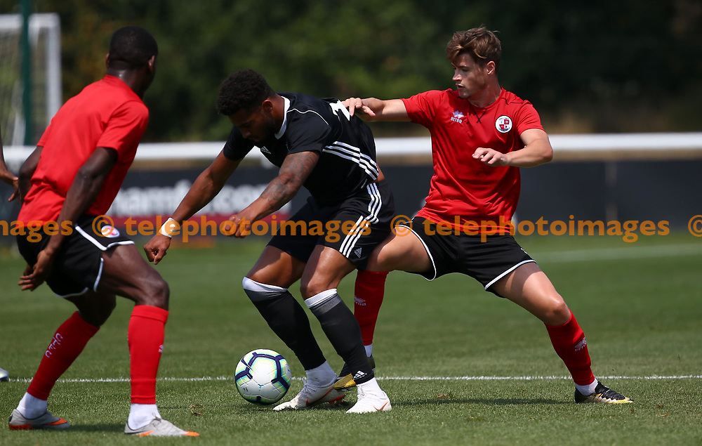 Crawley's Josh Doherty during the pre season friendly between Fulham and Crawley Town at Motspur Park Training Ground, London, UK. 07 July 2018.