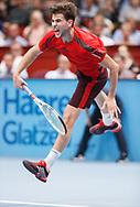 DOMINIC THIEM (AUT),Aufschlag,action, Aktion, Einzelbild, Ganzkoerper, <br /> <br /> Tennis - ERSTE BANK OPEN 2017 - ATP 500 -  Stadthalle - Wien -  - Oesterreich  - 26 October 2017. <br /> © Juergen Hasenkopf