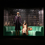 Saks windows Gucci and inside displays