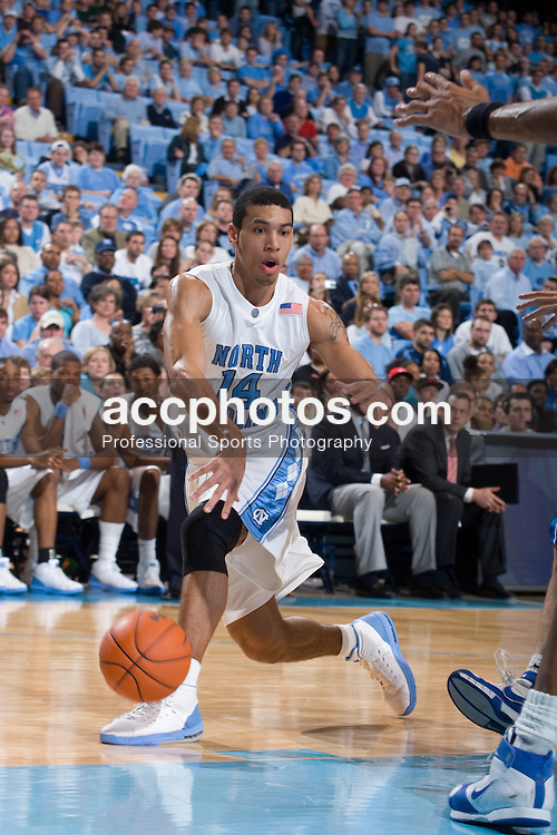 09 January 2008: North Carolina Tar Heels forward Danny Green (14) during a 93-81 win over the North Carolina Asheville Bulldogs at the Dean Smith Center in Chapel Hill, NC.