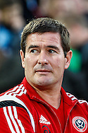 Nigel Clough Manager of Sheffield United  before the Capital One Cup match at the Boleyn Ground, London<br /> Picture by David Horn/Focus Images Ltd +44 7545 970036<br /> 26/08/2014