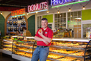 Fayetteville, Arkansas:  Rick Boone of Rick's Bakery in Fayetteville, AR shot for Fayetteville A&P and Sells Agency.<br /> <br /> Photography by Wesley Hitt