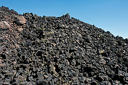 Pile of lava rocks, Fantastic Lava Beds, Lassen Volcanic National Park, California, United States of America