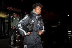Manchester United's Angel Gomes arrives for the Emirates FA Cup, fourth round match at Huish Park, Yeovil.