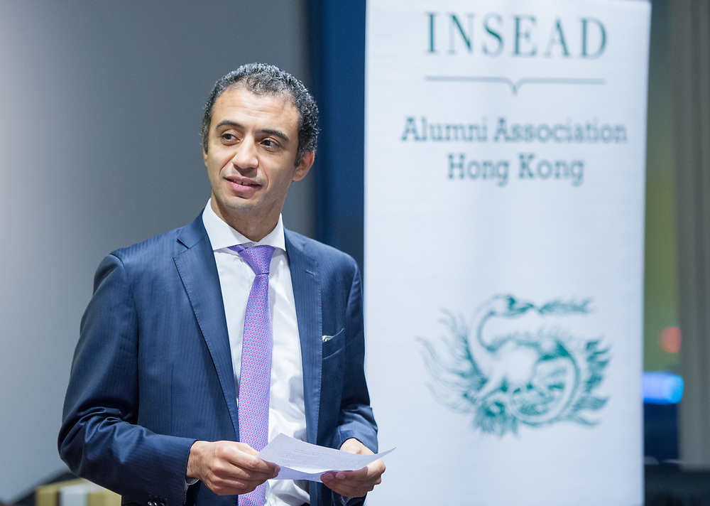 Andrea Orcel , President Investment Bank of  UBS Group AG, speaks during a panel discussion on 'Leadership' during the the 2017 insead alumni association hong kong in Hong Kong on June 07, 2017. (Photo by Samuel Corum/Anadolu Agency/Getty Images)<br /> <br /> ( Photo By Moses Ng / Moz Images )