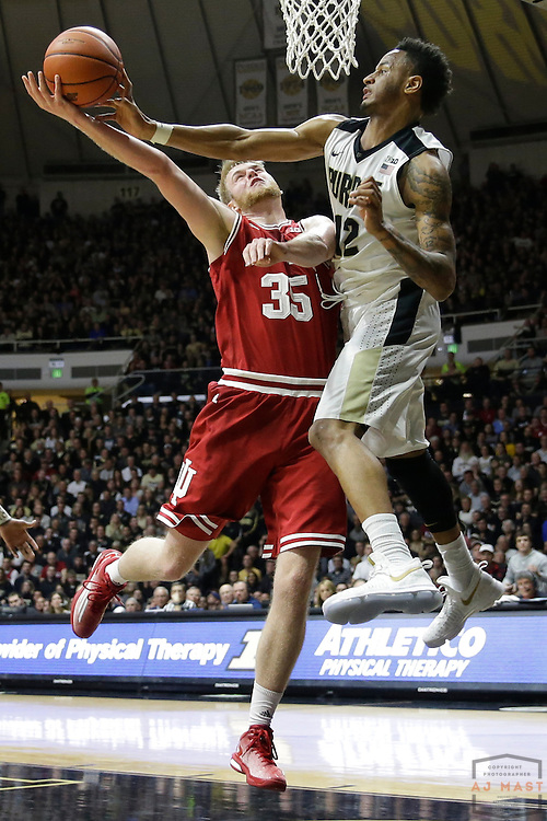 Indiana forward Tim Priller (35) in action as Purdue played Indiana in an NCCA college basketball game in West Lafayette, Ind., Tuesday, Feb. 28, 2017. (Photo by AJ Mast)