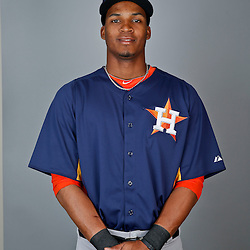 Feb 21, 2013; Kissimmee, FL, USA; Houston Astros outfielder Jimmy Paredes (38) during photo day at Osceola County Stadium. Mandatory Credit: Derick E. Hingle-USA TODAY Sports
